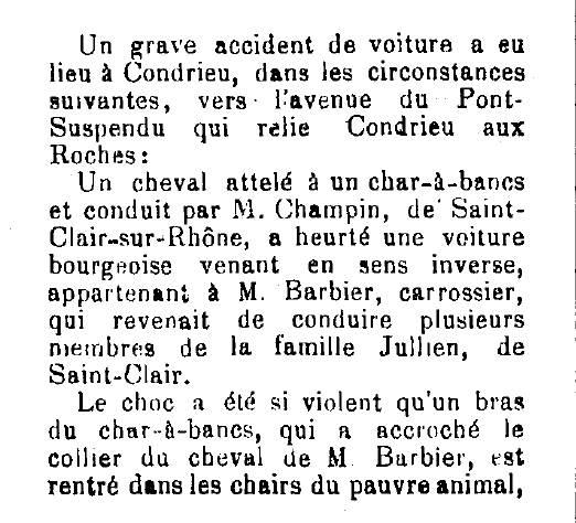 accident à Condrieu 1898 (début)