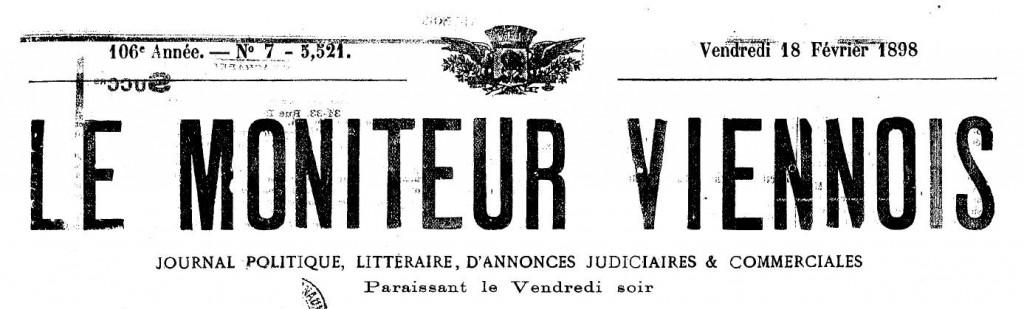 accident à Condrieu 1898 (titre)
