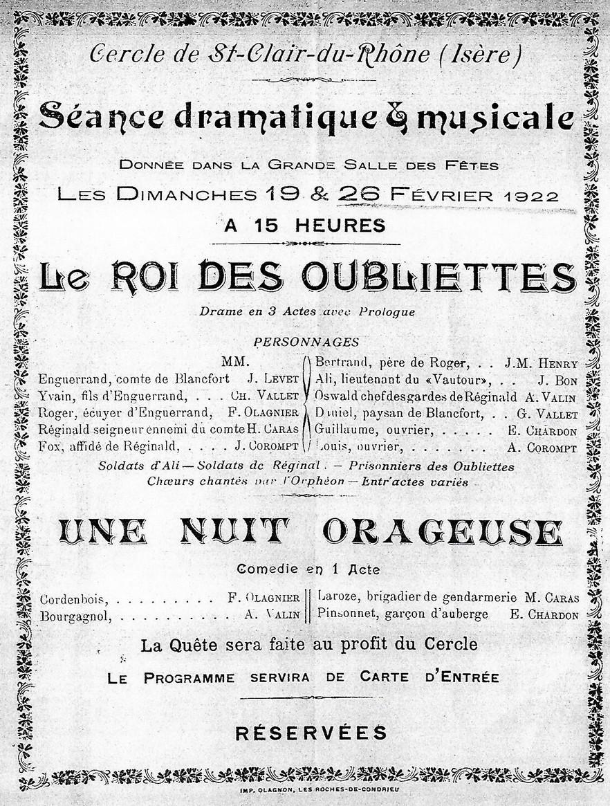 au théâtre ce soir 1922