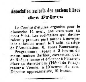 excursion au Mont Pilat Moniteur Viennois 5 mai 1898