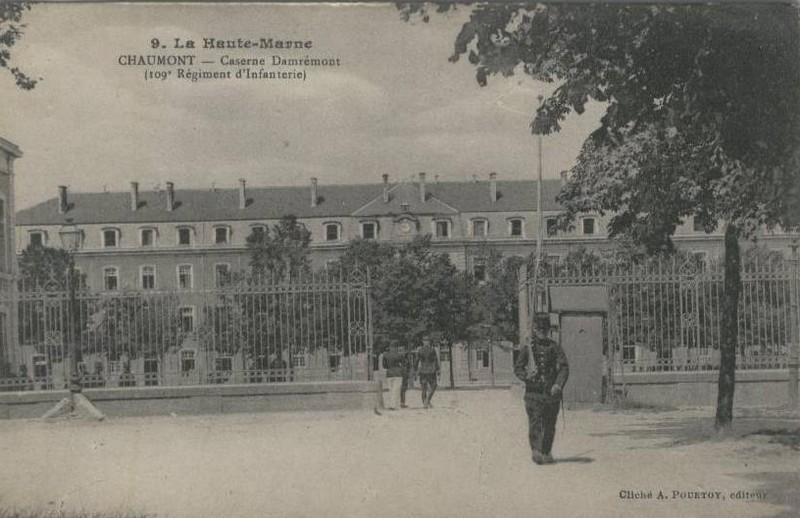 Caserne du 109e d'infanterie à Chaumont