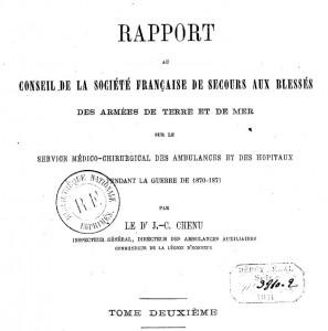 Rapport Dr Chenu Guerre 1870